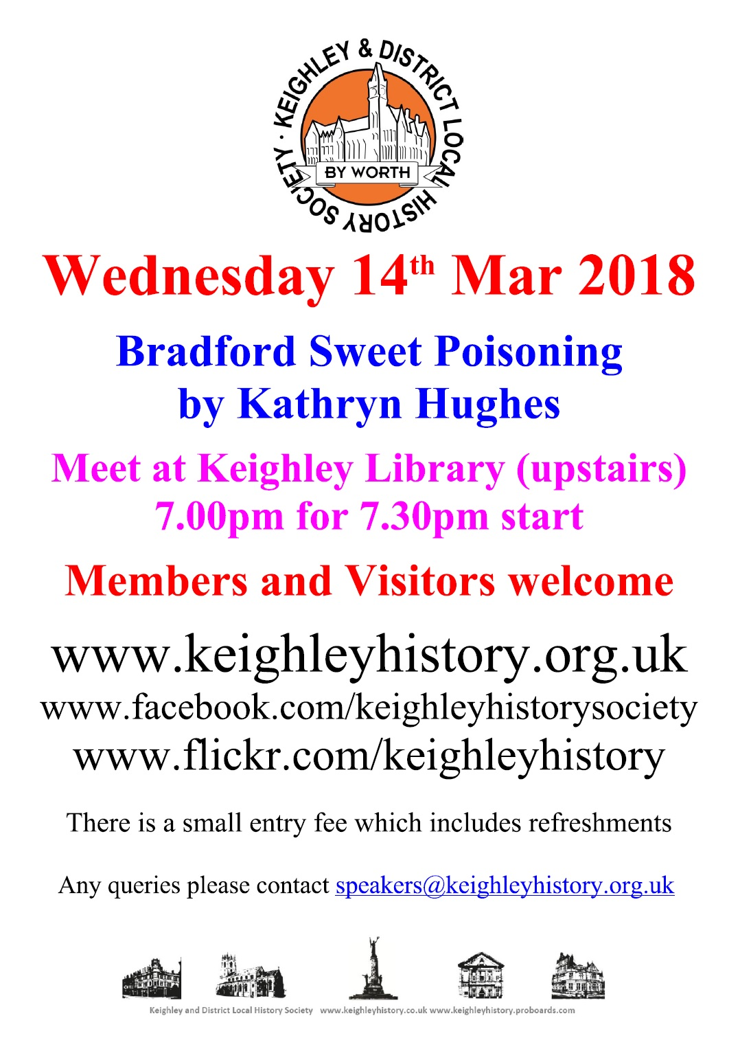 Speakers Meeting March 2018 @ Keighley Local Studies Library | England | United Kingdom