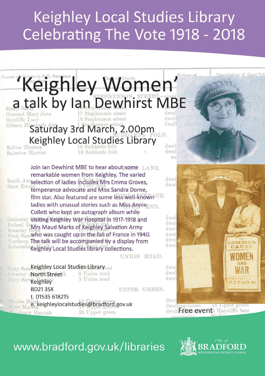 Ian Dewhirst talk @ Keighley Local Studies Library | England | United Kingdom