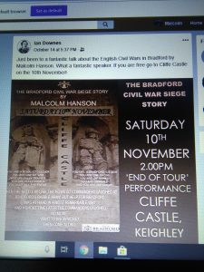 Malcolm Hanson- Bradford Civil War Siege Story @ Cliffe Castle | England | United Kingdom