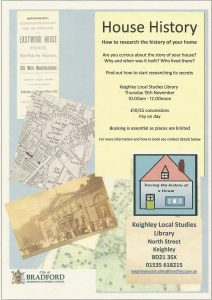 HOUSE HISTORY @ Keighley Local Studies Library | England | United Kingdom